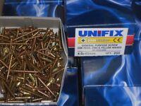 unifix wood screws gardening decking wood 4x30mm 200 per box
