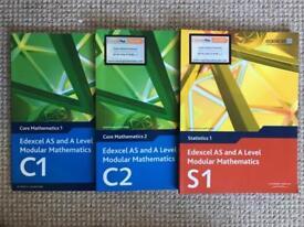 Edexcel AS/A level maths textbook bundle- C1, C2, S1