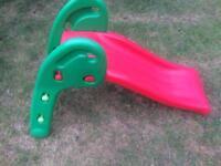 Kids garden slide. Signs of use.
