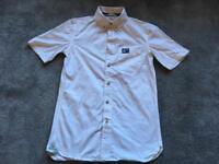 8d2fecbd178b1 Superdry men s t shirt cotton denim white short sleeves size S used one  time v