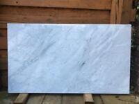 White genuine carrara marble slabs tiles