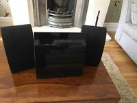 Sony CMT-CX5BiP Audio System with 2 speakers and remote
