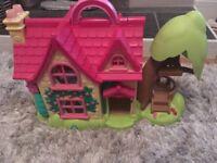 Happyland bundle - zoo, horse rider, fire station, gypsy caravan, train track, house, box