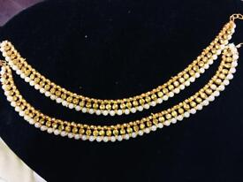 Brand new beautiful pearls anklets pair set,