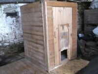 large dog kennel and run --plus lots of extra panels + 15 lengths--8 feet long by 5 in of t & g