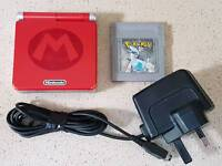 Nintendo Gameboy Advance SP with Pokemon Silver