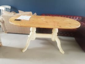 Handmade solid wood dining room table