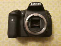Canon 7D - Very good condition under 30k shutter count. 28mm 1.8 and 50mm 1.4 also available