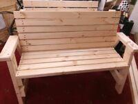 NEW Handmade Garden Benches.