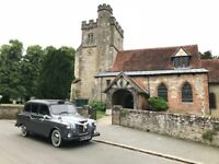 Iconic LondonTaxi Black Cab Wedding Hire