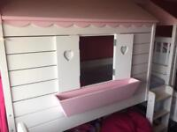Girls Elevated Princess House Bed