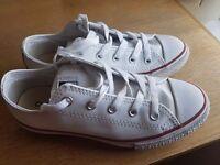 Girls leather white Converse UK Size 13