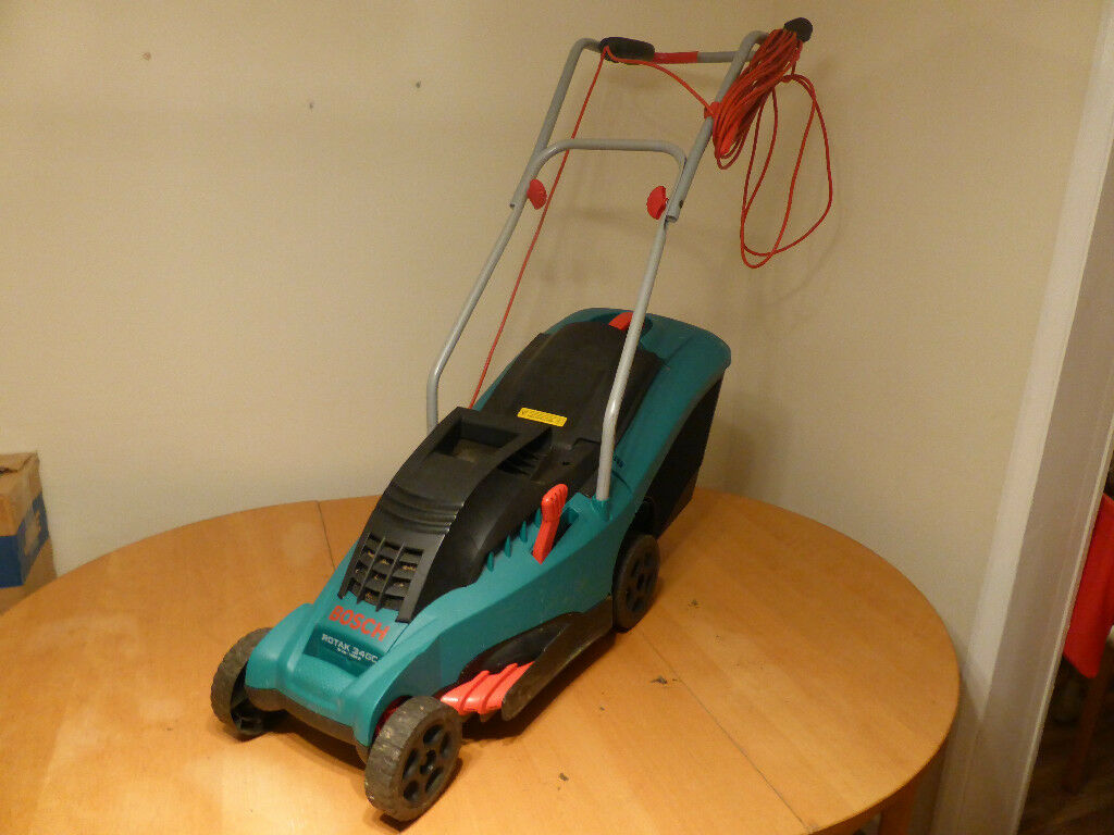 Bosch Rotak 34 Gc Electric Rotary Lawn Mower