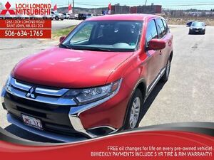 2016 Mitsubishi Outlander ES, LOTS OF WARRANTY, A/C 4X4, SPORTY.