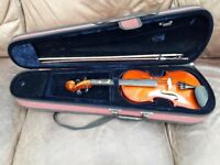 3/4 Size Violin, Case and Bow from Stringers of Edinburgh - Very Good Condition