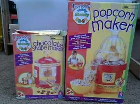 Kids chocolate machine & popcorn maker
