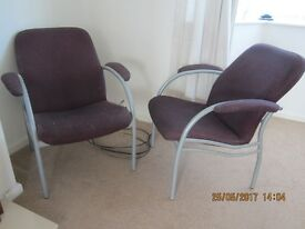 Housemove/House clearance. Pair of nice armchairs, commercial quality, good condition.