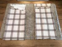 Lined eyelet curtains 90x90 inches. Exc