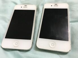 Iphone 4 and 4s white in good working condition