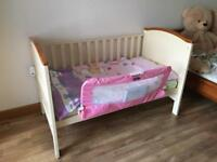 Henley cot bed with oak trim