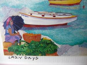 "Eileen Seitz ""Lazy Days"" Signed Print Stratford Kitchener Area image 5"