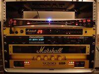 Guitar Rig - Marshall 9200, JMP1, 1960B - Rocktron Midimate, Replifex - Korg DTR-2000, Gator 8U Case