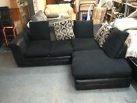BLACK CORNER SOFA (DELIVERY AVAILABLE)
