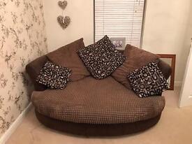 DFS snuggle cuddler sofa chair