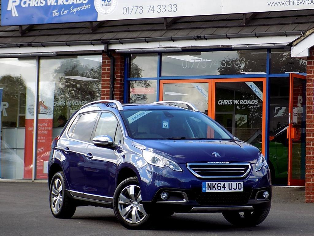 peugeot 2008 1 2 allure 5dr auto bluetooth dab cruise blue 2014 in ripley. Black Bedroom Furniture Sets. Home Design Ideas