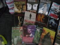HORROR DVDs X 17 SET 1