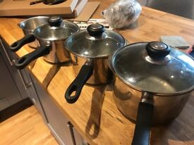 4 x Judge Stainless Steel Pans