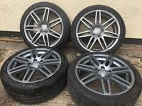 "18"" genuine audi wheels with mint continental tyres 5x112"