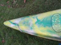 Kayak Mega jester cyclone surf kayak with 2 fins