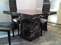 Solid marble dining table, as new