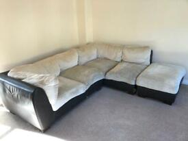 Free - L shape sofa with foot stall/extension