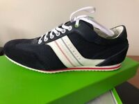 HUGO BOSS Green Mens Dark Blue Trainers/Casual Shoes - UK 10 * Brand New Boxed Never Worn* RRP £139