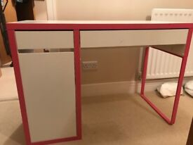 Ikea jerker desk with shelves in beech in falkirk gumtree
