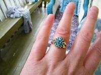 Rare 14k Apatite Ring