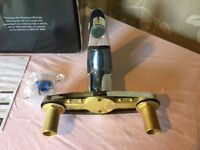 Mira tap Fits all 2 hole baths. Brand new still sealed in box