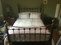 Beautiful Victorian iron double bed frame - excellent condition