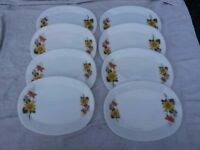 "1960's Vintage JAJ Pyrex ""Autumn Glory"" dinner steak plate serving platter set"
