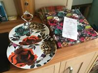 Porcelain cake stand plate crockery afternoon tea Paperchase wedding