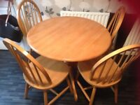 Wooden Table and 4 Chairs - £100 ONO - Excellent Condition