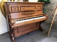 1900 Bluthner, Leipzig burr walnut upright piano - CAN DELIVER