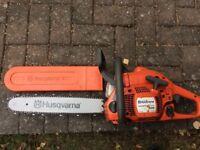 Husqvarna 435 x-torq petrol chainsaw new chain and bar
