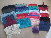Large selection of ladies summer tops size 10–12. Too many to list from £1 each. smoke/petfree home