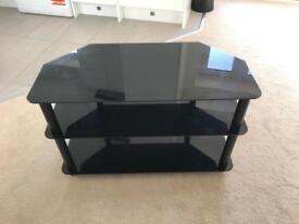 Black 3 tier TV stand