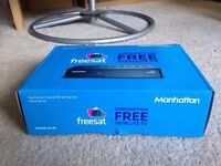 Manhattan freesat satellite freeview receiver box