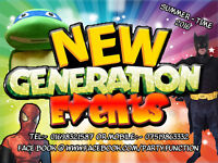 New Generation Events - Discos - Wedding - Mascots - Brouncy Castles