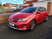 Toyota Auris, 2015, Red, 1.6 Petrol, 6 Speed Manual, Only 21k Low Miles, TOP SPEC, Bargain Price.